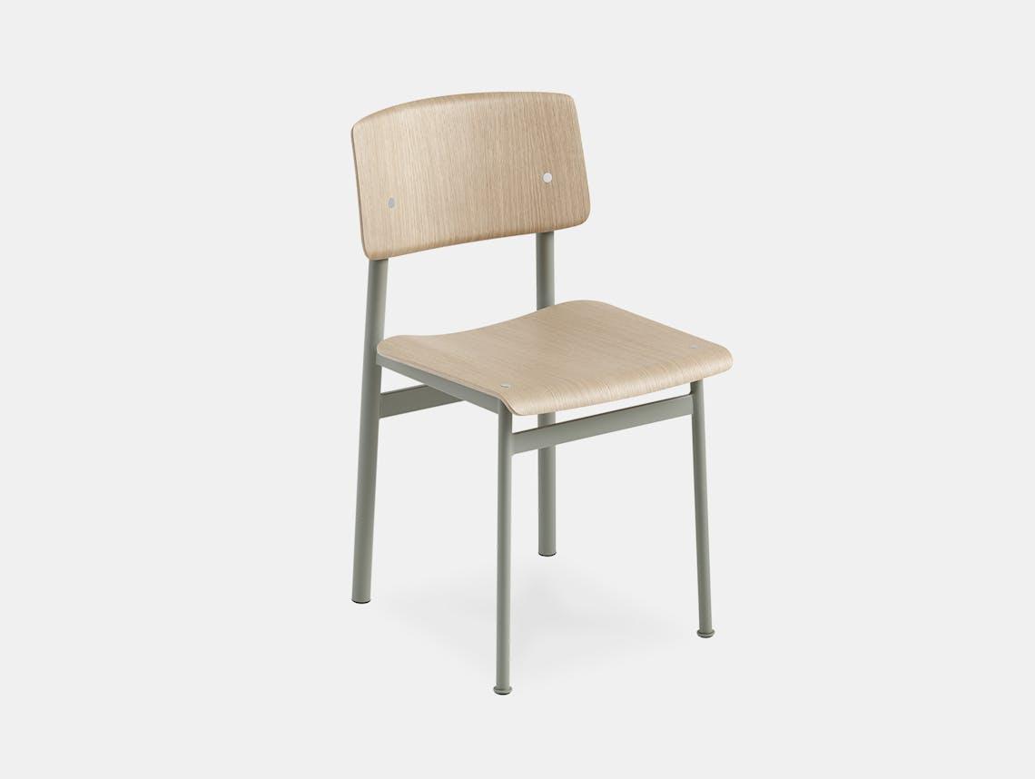 Muuto loft chair dusty grn oak