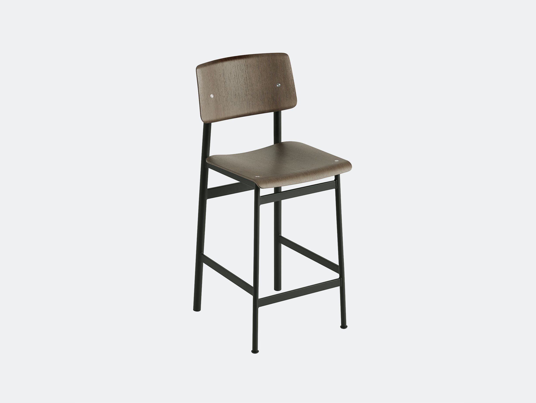 Muuto loft counter stool dark brown