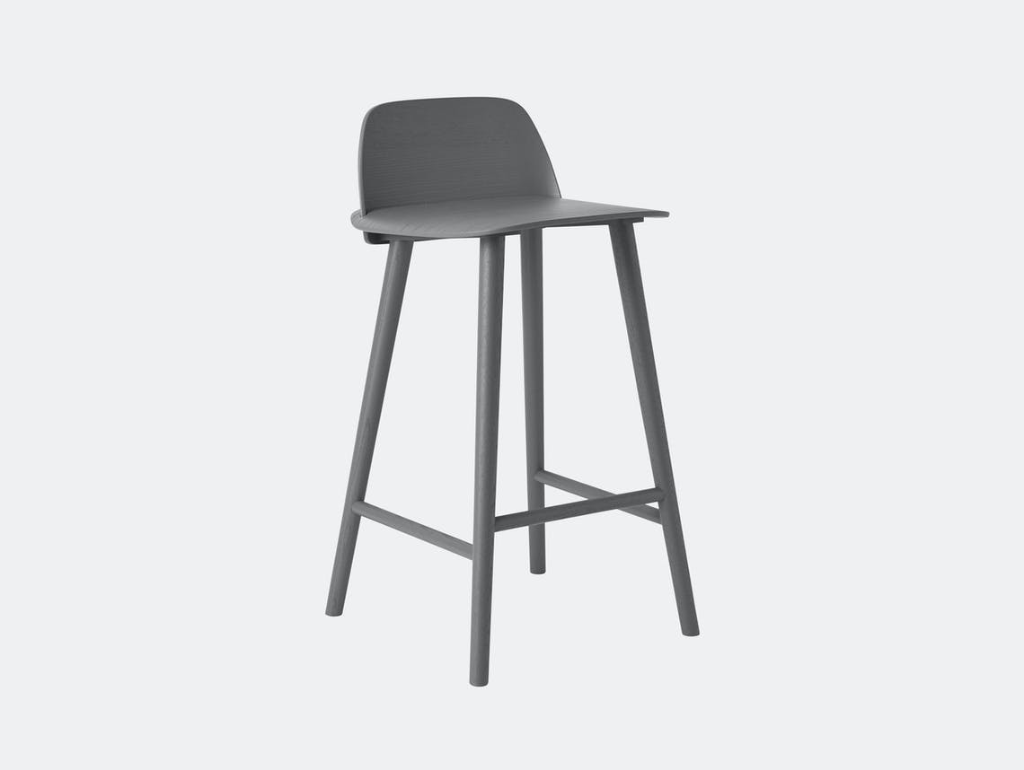 Muuto Nerd Stool Dark Grey David Geckeler