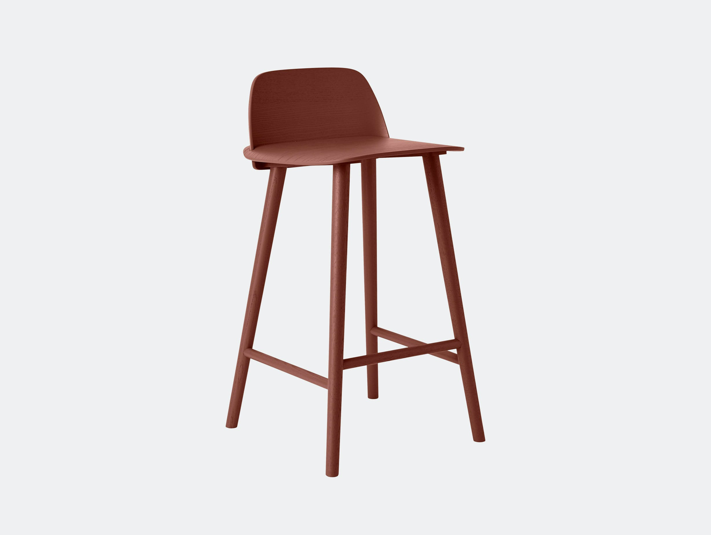Muuto Nerd Stool Dark Red David Geckeler