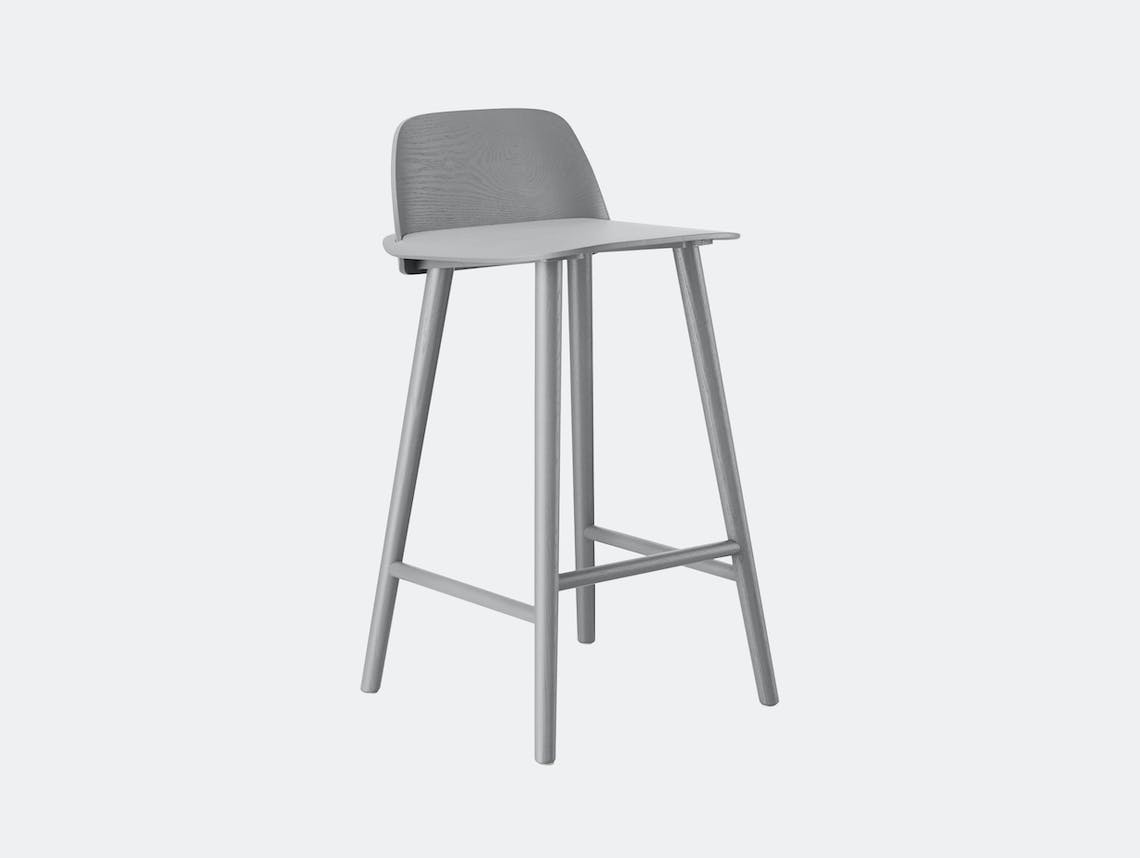 Muuto Nerd Stool Grey David Geckeler