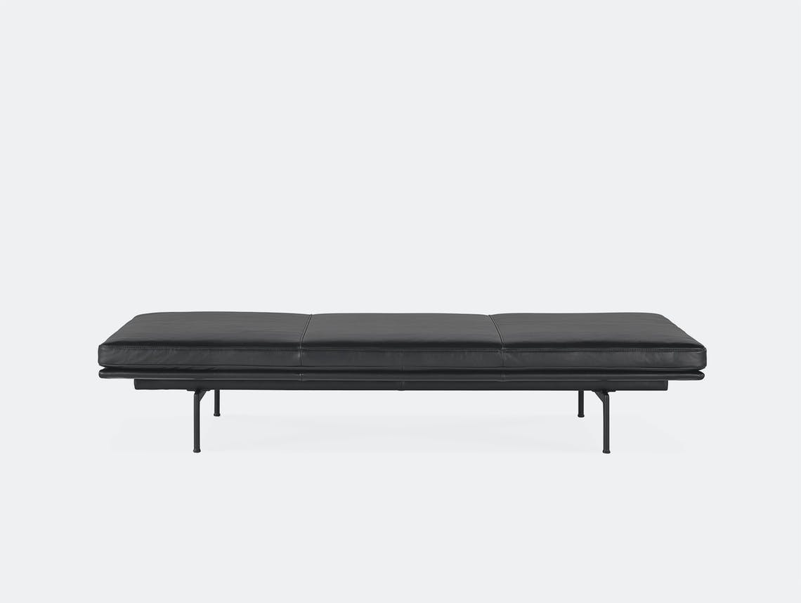 Muuto outline daybed black refine leather black