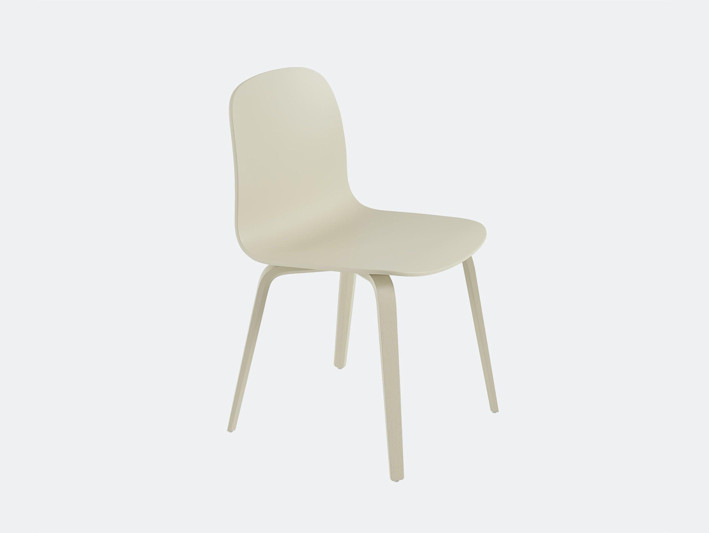 Muuto visu chair wood base sand yellow