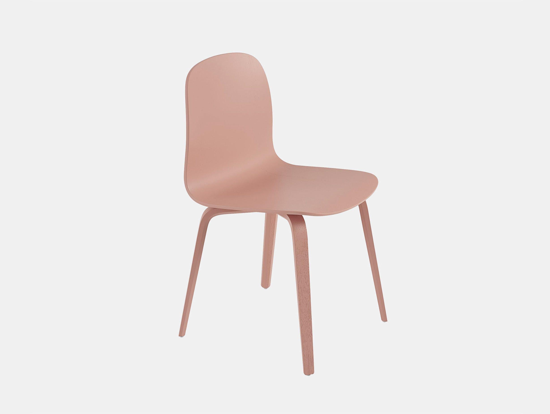 Muuto visu chair wood base tan rose