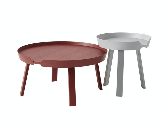 Menu Around Coffee Table Dark Red Grey Thomas Bentzen