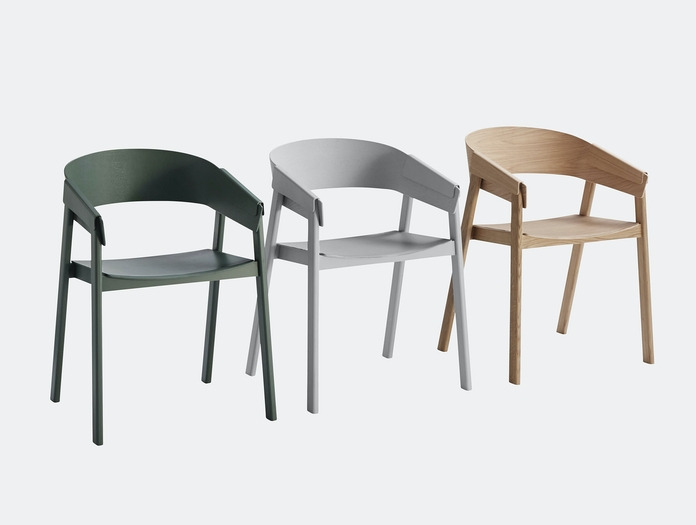 Muuto Cover Chair Oak Grey Green Thomas Bentzen