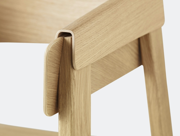 Muuto Cover Chair Oak Detail 2