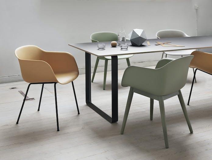 Muuto Fiber Chairs 70 70 Table