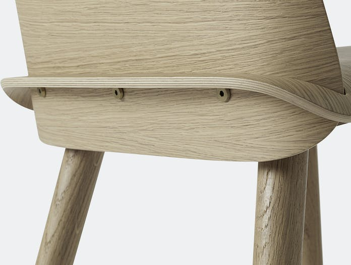 Muuto Nerd Chair Oak Back Detail