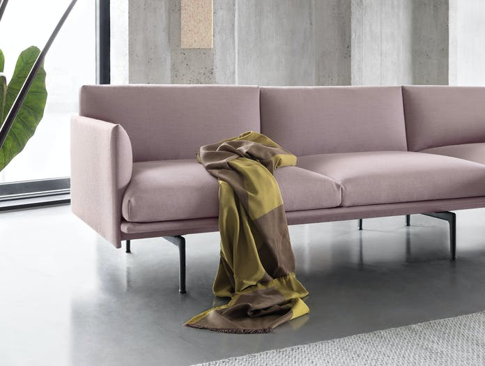 Muuto Sway Throw Yellow Tina Ratzer Outline Sofa