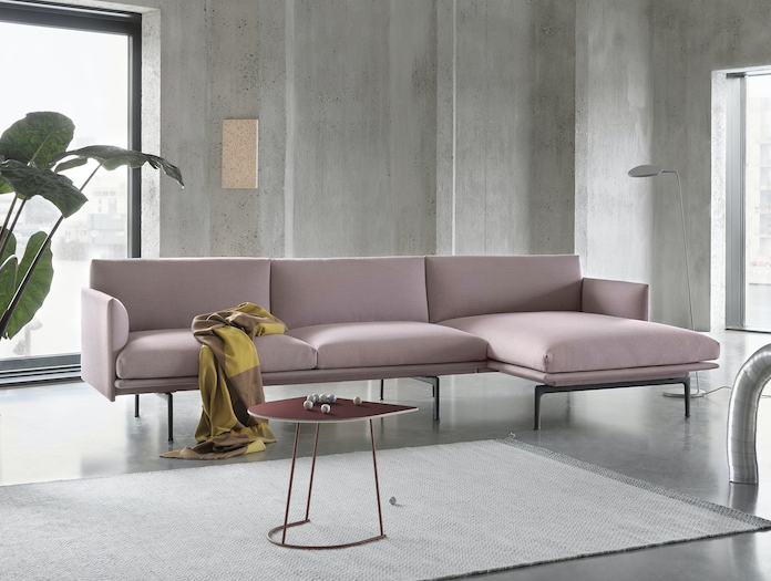 Outline Chaise Longue Fiord 551 Airy Plum Ply Sway Leaf Floor Lamp