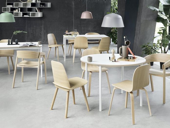 Muuto Base Table Nerd Chair Visu Chair Cover Chair