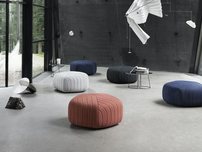 Muuto Five Pouf Airy Table Balance