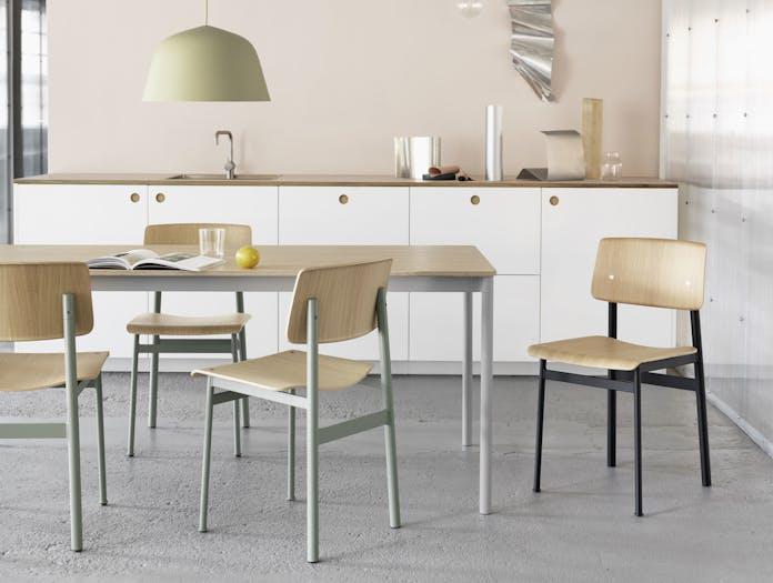 Muuto Loft Chair Base Table Oak Grey Ambit Beige Green E27 Org