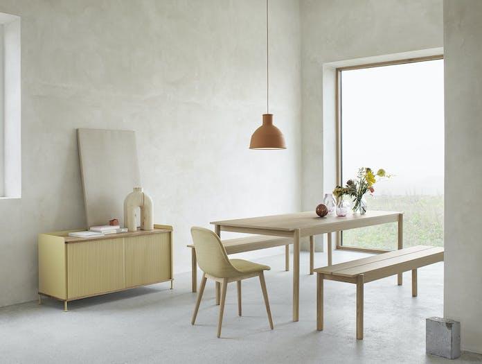 Muuto linear bench table wood 2