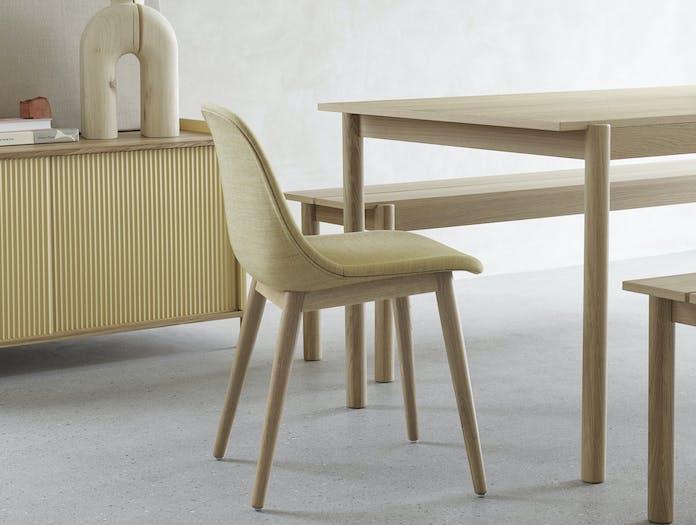 Muuto linear bench table wood 3