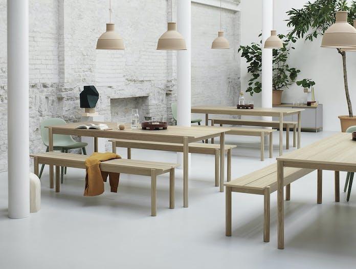 Muuto linear bench table wood 4