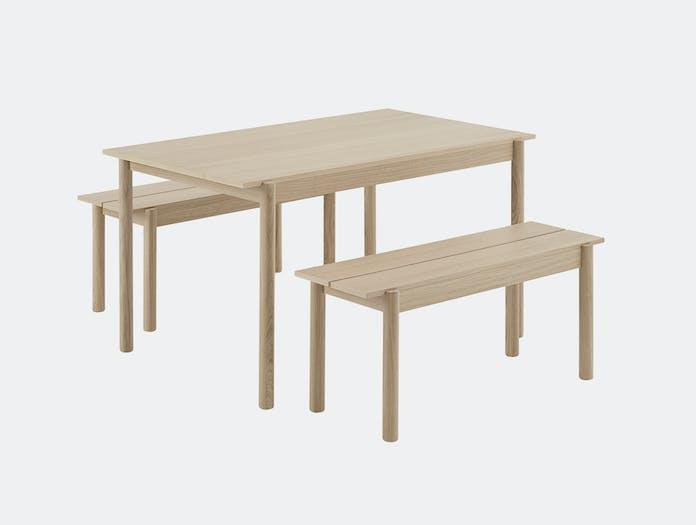 Muuto linear bench table wood 5