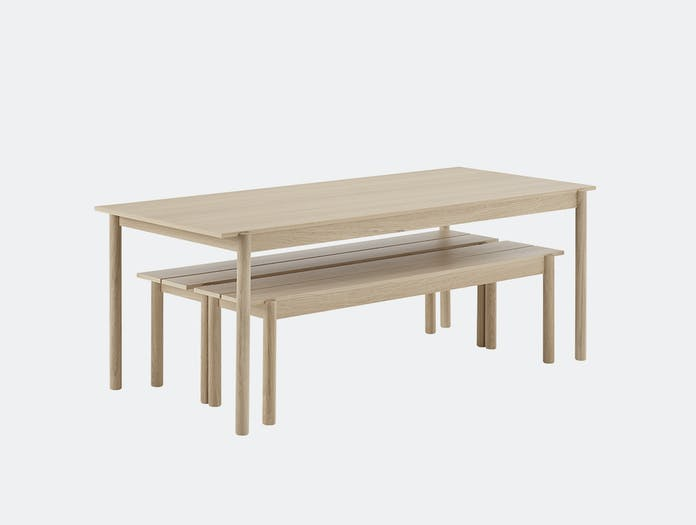 Muuto linear bench table wood 7