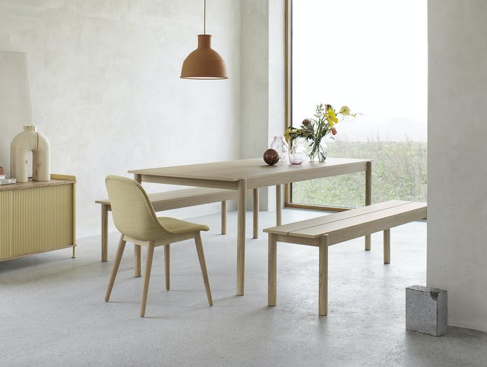 Muuto linear bench table wood