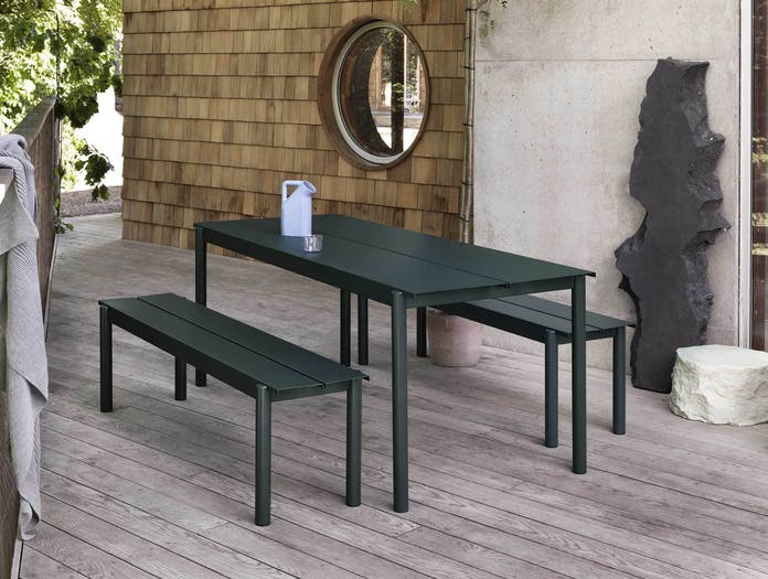 Muuto linear steel outdoor table ls