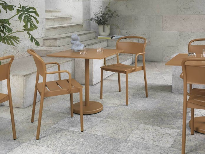 Muuto linear steel square cafe table ls
