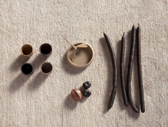 Nanimarquina nettle rug natural detail ilse crawford