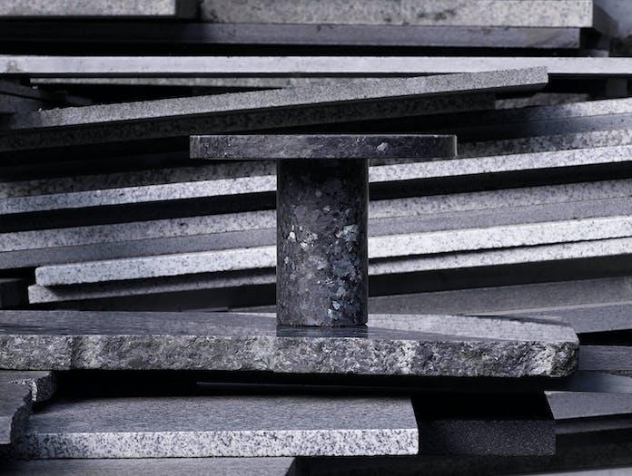 New Works Core Table Lamp Falke Granite