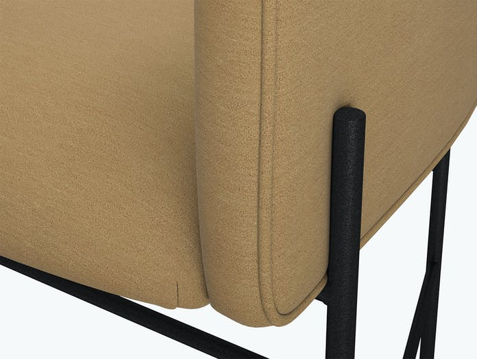 New Works Covent Chair Febrik Gentle Camel Detail Rene Hougaard