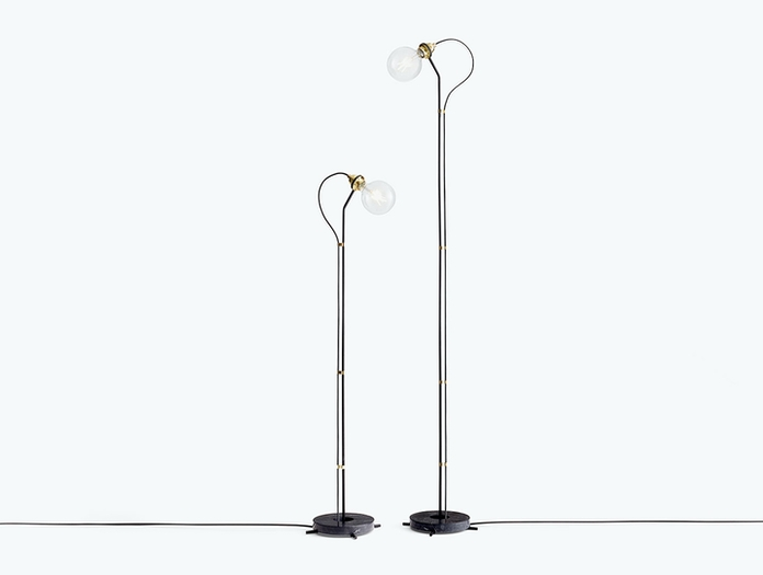 New Works Five Floor Lamps Black Gaspard Graulich