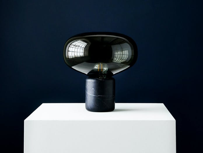 New Works Karl Johan Table Lamp Black Marble 2 Signe Hytte
