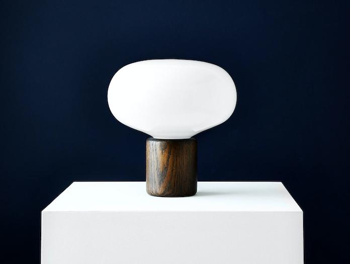 New Works Karl Johan Table Lamp Smoked Oak 2 Signe Hytte