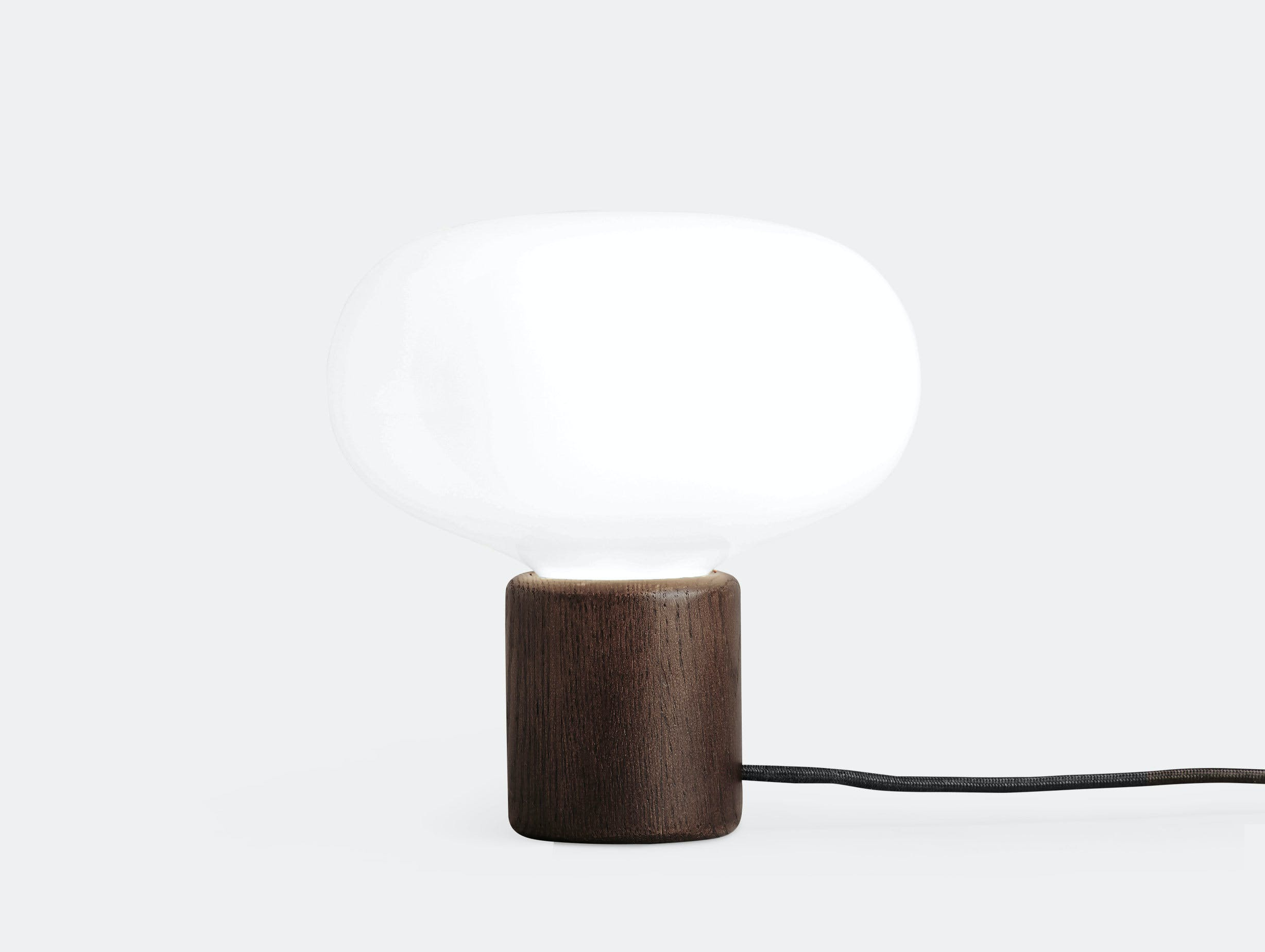 New Works Karl Johan Table Lamp Smoked Oak Signe Hytte