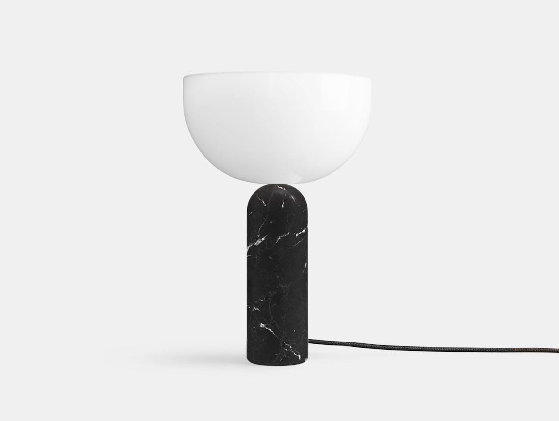 New Works Kizu Table Lamp High Black Marble Lars Tornoe