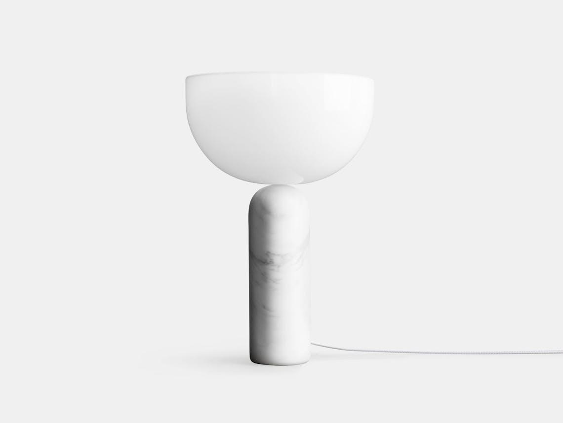 New Works Kizu Table Lamp High White Marble Lars Tornoe