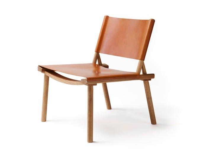 Nikari December Xl Lounge Chair Cognac Leather Jasper Morrison Wataru Kumano
