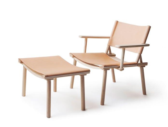 Nikari December Xl Lounge Chair And Footstool Jasper Morrison Wataru Kumano