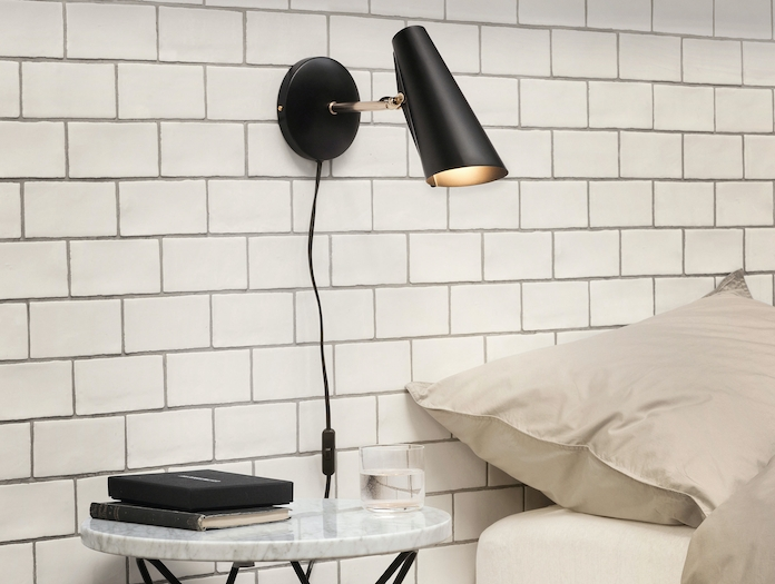 Northern Lighting Birdy Wall Short Arm Black Brass 2 Birger Dahl