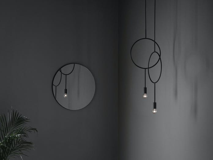 Northern Lighting Circle Dark Grey 3 Hannakaisa Pekkala