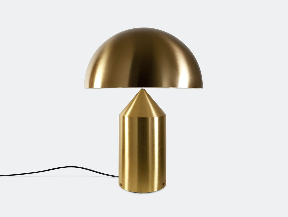 Oluce Atollo Metal Table Lamp Gold Vico Magistretti