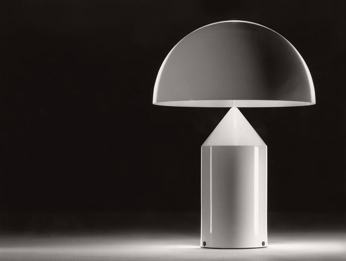 Oluce Atollo Metal Table Lamp White Vico Magistretti