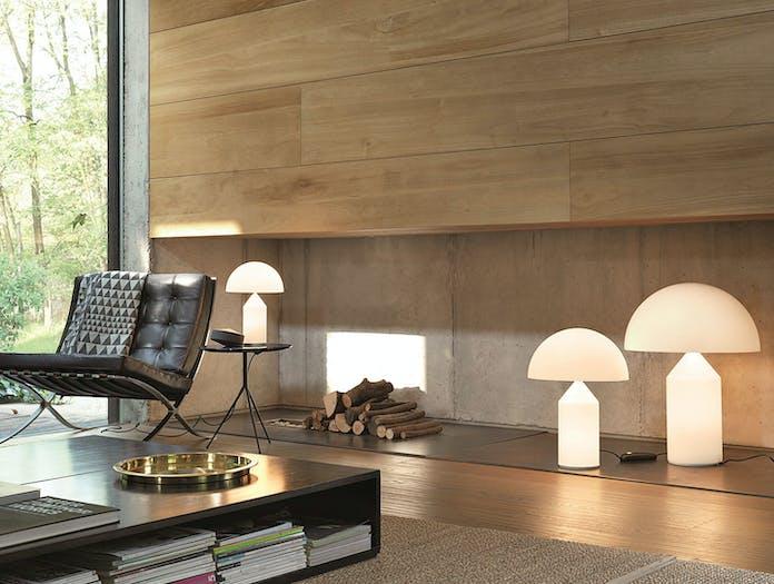 Oluce Atollo Metal Table Lamps Glass 3 Vico Magistretti