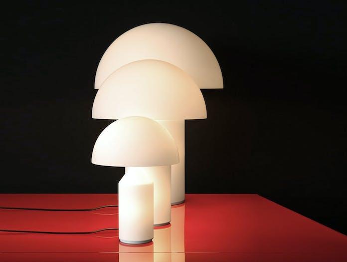 Oluce Atollo Metal Table Lamps Glass 3 Sizes Vico Magistretti