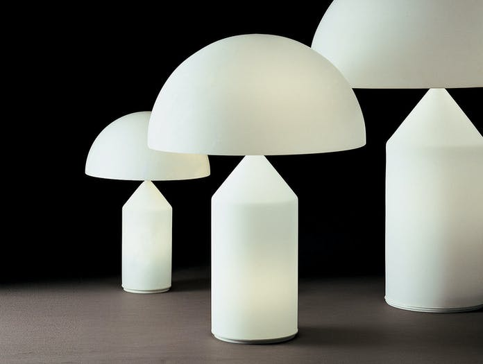 Oluce Atollo Metal Table Lamps Glass Vico Magistretti