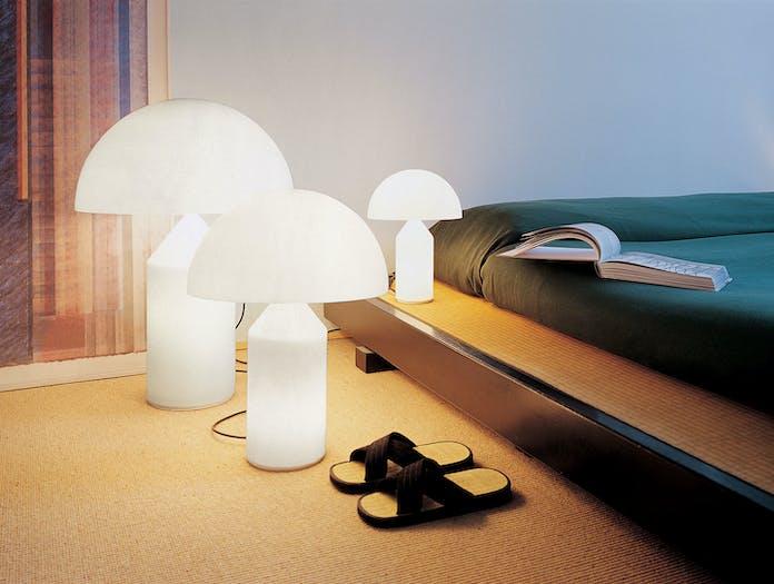 Oluce Atollo Metal Table Lamps Glass Bedside Vico Magistretti