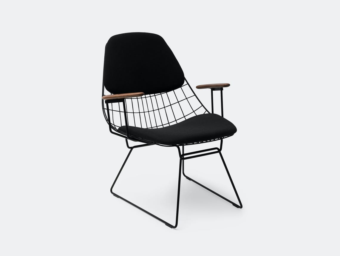 Pastoe Fm06 Wire Lounge Chair Black Cees Braakman
