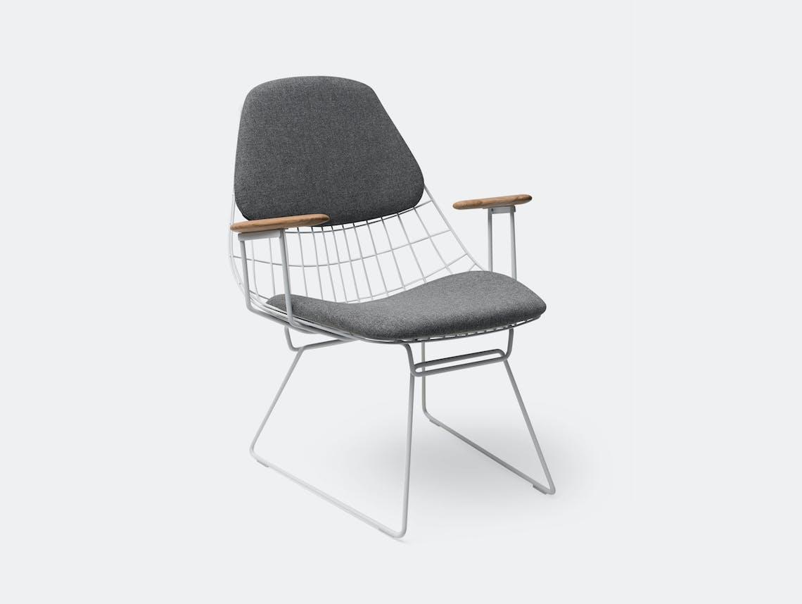 Pastoe Fm06 Wire Lounge Chair Grey Cees Braakman