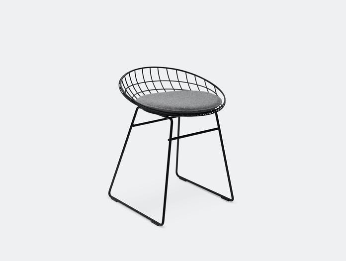 Pastoe Km05 Low Wire Stool Black Grey Cees Braakman