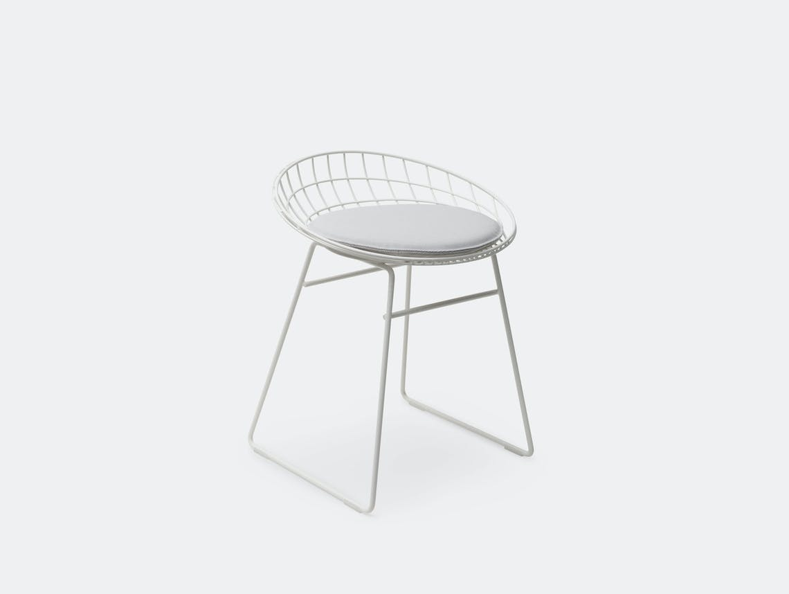 Pastoe Km05 Low Wire Stool White Cees Braakman