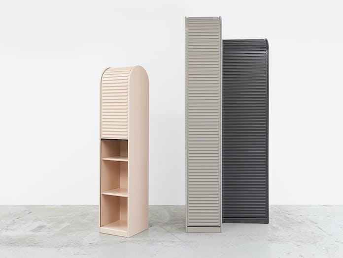Pastoe A Dammer Roll Top Cabinets Pink Grey Aldo Van Den Nieuwelaar